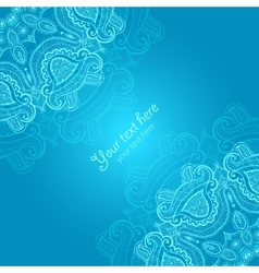 Greeting card with lace ornament vector image vector image