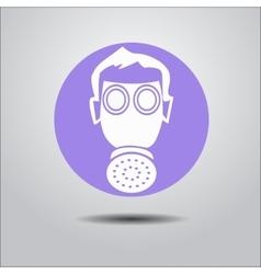 Logo face shield vector image vector image