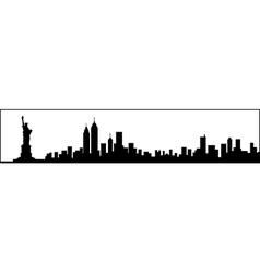 New York City Skyline Silhouette vector image vector image