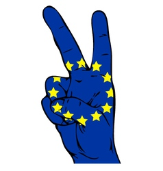 Peace sign of the flag of the European Union vector image vector image