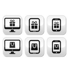 Shopping online internet shop buttons set vector image vector image