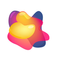 3d abstract blur free forms color gradient fluid vector image