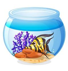 A fish inside jar vector
