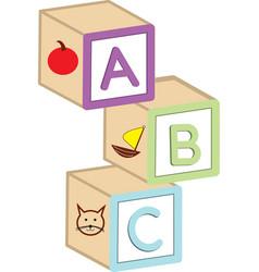 Abc blocks vector