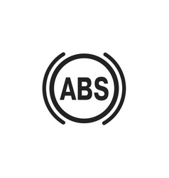 Abs single flat car icon on white background vector