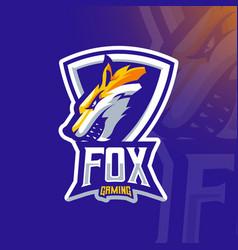 angry fox vector image