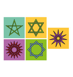 arabic star symbols for ornament or decoration vector image