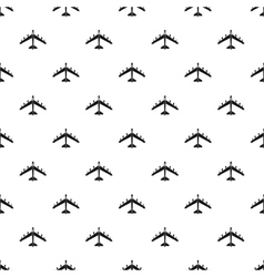 Armed fighter jet pattern simple style vector image