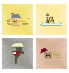 assembly flat shading style icon natural disasters vector image