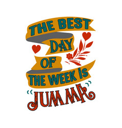 Best day week muslim quote and saying vector