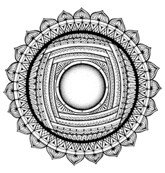 Black and white mandala coloring book pages for vector