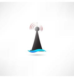 Black antenna vector image