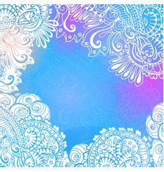 blue winter background for meditation design vector image