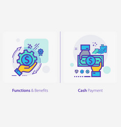 business and finance concept icons functions and vector image