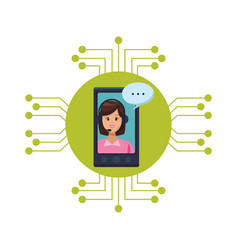 Call center assistant vector