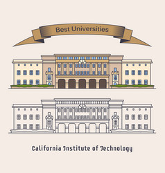 Caltech or california institute of technology vector