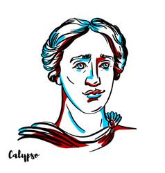 calypso portrait vector image