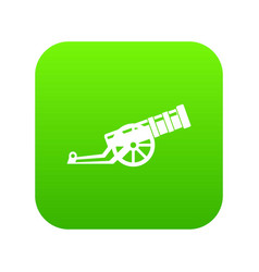 cannon icon digital green vector image