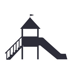 children s slide for playground on white backfit vector image