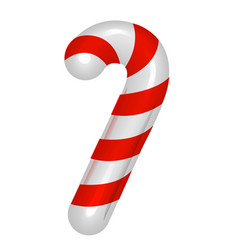 Christmas candy cane cheerful traditional striped vector