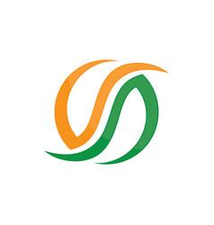 circle abstract bio logo image vector image