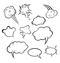 collection comic style speech bubbles vector image