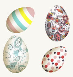 collection decorated easter eggs for design vector image