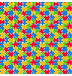 Colorful jigsaw seamless pattern vector