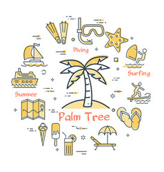 concept of palm tree vector image