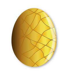 Cracked golden egg vector