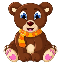 cute teddy bear cartoon vector image