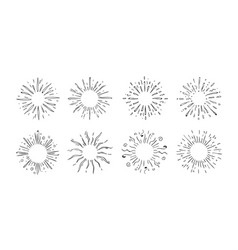doodle starburst hand drawn decorative elements vector image