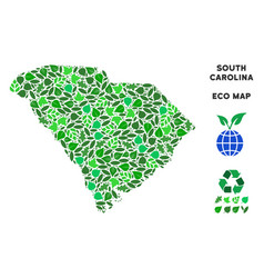 Ecology green collage south carolina state vector