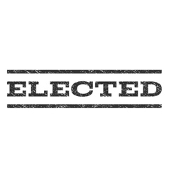 Elected Watermark Stamp vector