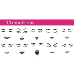 Emoticons face expressions set vector