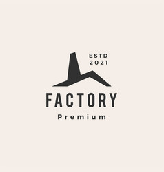 Factory hipster vintage logo icon vector