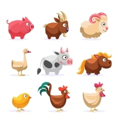 Farm Animals Collection vector image vector image