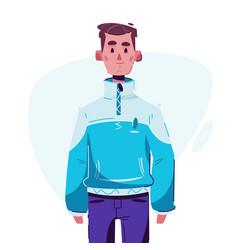 Fashionable guy character design cartoon vector