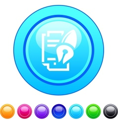 Form and pen circle button vector image