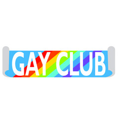 gay club label vector image