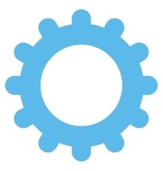 Gear flat blue color icon vector