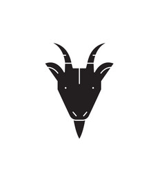 goat head black concept icon goat head vector image