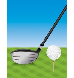 Golf Driver and Teed Ball vector