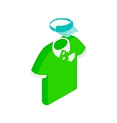 Green man polo shirt and blue cap isometric icon vector image