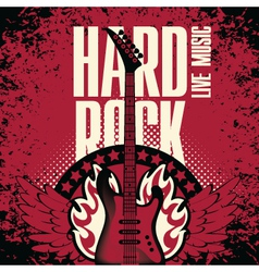 hard rock music vector image vector image