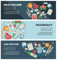 healthcare and pharmacy doctor consultation web vector image
