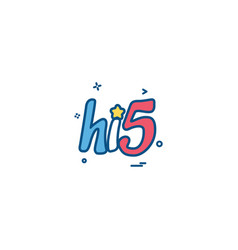 hi5 icon design vector image