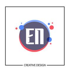 initial letter en logo template design vector image