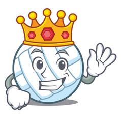 King volley ball character cartoon vector