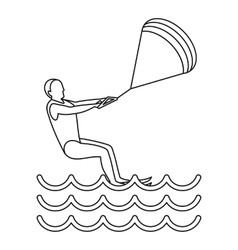 Kitesurfing icon simple style vector